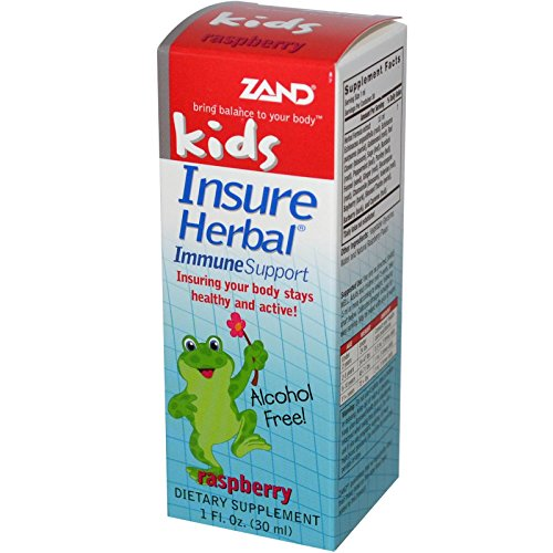 (Zand, Kids, Insure Herbal, Immune Support, Raspberry, 1 fl oz (30 ml) -)