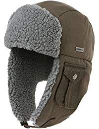Cotton Trapper Hat Faux Fur Earflaps Hunting Hat Warm Pillow Lining Unisex