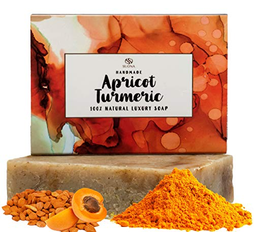 Turmeric Soap for Face Lightening-Skin Lightening Soap Bar for Acne & Dark Spots.100% Natural & Organic.Body & Facial Soap Soothes Eczema & Dry Skin. A Gentle Cleansing Soap Bar for All Skin Types.