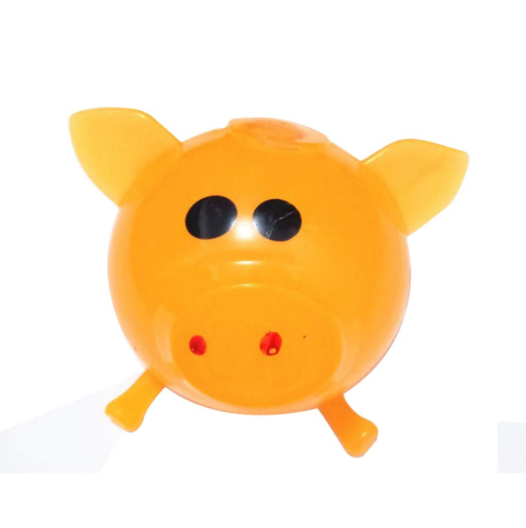 Pet1997 Decompression Puzzle Plaything, 1Pcs Jello Venting Pig Dolls, Cute Anti Stress Splat Water Pig Ball, Vent Toy Venting Sticky - Blue, Orange, Pink, Green, Purple (Orange)