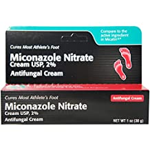 Miconazole Nitrate 2 % Antifungal Cream - 1 Oz (Pack of 6)