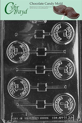 One Mold - Cybrtrayd Life of the Party B039 Baby's 1st Birthday Lolly Chocolate Candy Mold in Sealed Protective Poly Bag Imprinted with Copyrighted Cybrtrayd Molding Instructions