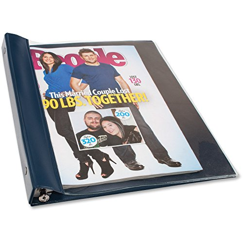 Ideastream Snap - Advantus Products - Advantus - Vinyl Magazine Binder, 9 1/2w x 11-1/4h, Clear Front Cover, Navy Blue Back - Sold As 1 Each - Fits catalogs and magazines up to 11 1/4