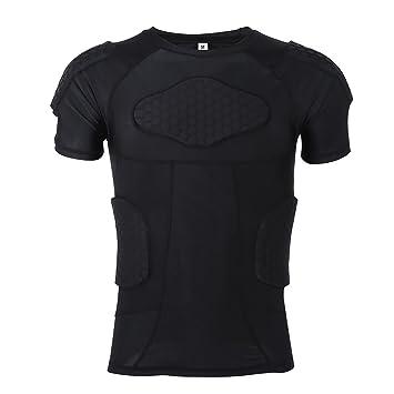 Camiseta de protección de manga corta de Vgeby, acolchada para jugar a fútbol, baloncesto