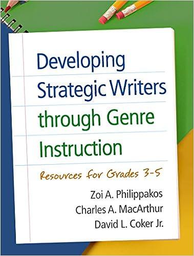 Developing Strategic Writers through Genre Instruction: Resources