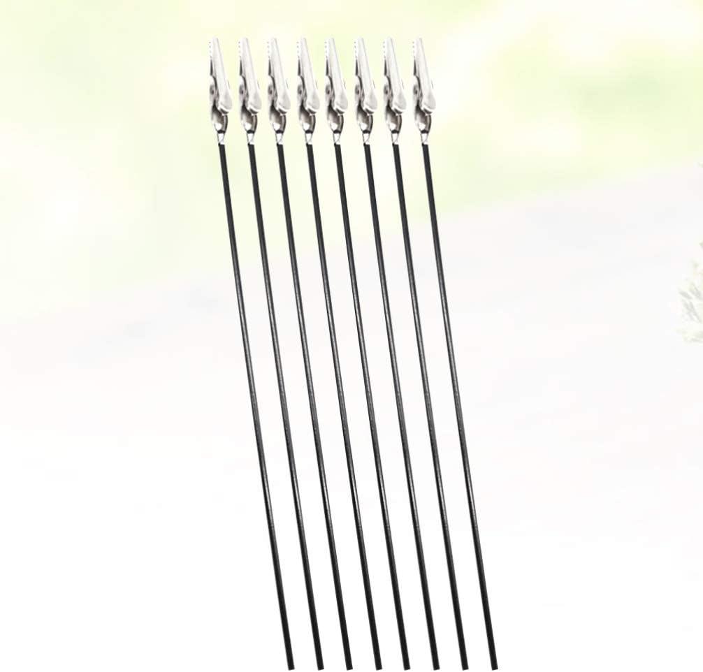 NUOBESTY Morsetto a Coccodrillo Filo Metallico Tabella Numero Titolare Clip Segnaposto Fermacarte Foto Memo Espositore per Ufficio Casa Ristorante