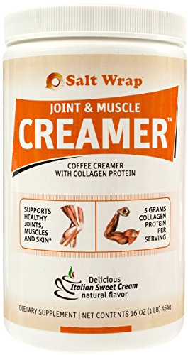 New! Joint & Muscle Creamer™, Non-Dairy Low Carb Coffee Creamer with Collagen Protein (Ketogenic & Paleo Diet Friendly) 16 oz, Italian Cream Flavor, Best Tasting Keto Creamer, from SaltWrap