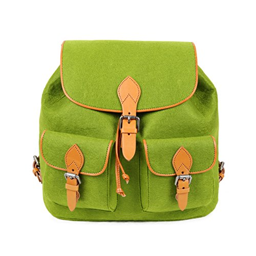 Wool Bag S Backpack School New Felt Travel Bag Style Green Girl TOPHOME Daily vgqIdq