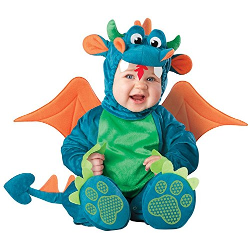 Halloween Toddlers Infant Dinky Dragon Animal Costumes Baby Cosplay Costume (Dinky Dragon Infant Toddler Costume)