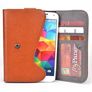 5 Inch Phone Wallet Case with Belt Loop and Credit Card Slots fits HTC One SV Phone