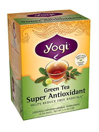Yogi Teas Super Antioxidant Green Tea, 16 Count (Pack of (Nutrition Super Antioxidants)