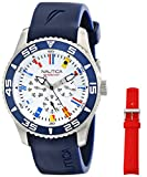 Nautica Men's NAD13502G NST 07 Flag Multi Analog Display Japanese Quartz Blue Watch