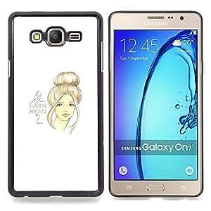 "Planetar ( 5 'th Birthday Girl Blanco Moda"" ) Samsung Galaxy On7 O7 Fundas Cover Cubre Hard Case Cover"