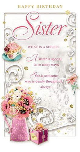 Opacity Sister Birthday Card Happy Birthday Bouquet Di Fiori