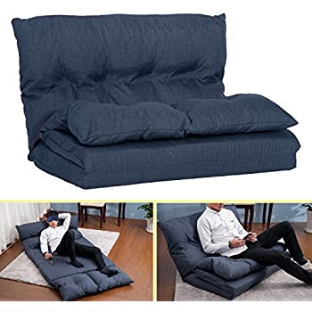 Amazon Com Merax Pu Leather Foldable Modern Leisure Sofa