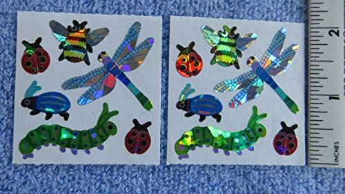 Bugs Dragonfly Insects - Strip of Vintage Retired Prism Stickers Decoration tokobootslittle