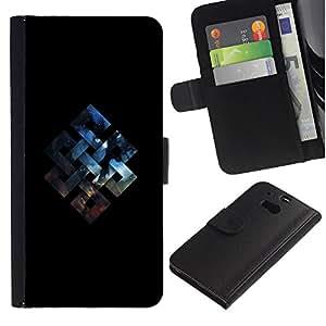 NEECELL GIFT forCITY // Billetera de cuero Caso Cubierta de protección Carcasa / Leather Wallet Case for HTC One M8 // Geometría del espacio fortuna Nudo
