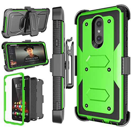 LG Stylo 4 Case, LG Q Stylus Holster Clip, Njjex [Nbeck] Shockproof Heavy Duty Built-in Screen Protector Rugged Locking Swivel Belt Clip Kickstand Hard Phone Cover for LG Styus 4/Stylo - For Lg Covers Phones
