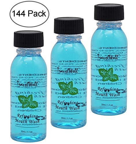 (AMENITIES DEPOT 144 Bottles per Case,1 Fl Ounce/30ml,Long Lasting Mint Mouth Wash (144 Per)