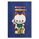 BAIHT HOME Cotton Linen Cute Maneki Neko Japanese Noren Doorway Curtain with Lucky and Fortune Cats Pattern Tapestry Divider Bedroom Blackout Door Curtain Panel£¬33.5'' x 47.2''