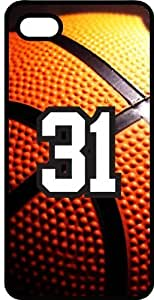 Basketball Sports Fan Player Number 31 Black Plastic Decorative iphone 4s Case