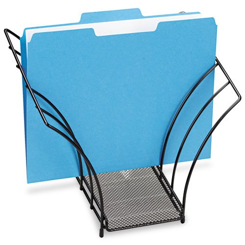 Butterfly File Sorter, Five Sections, Mesh, 12 1/4 x 7 3/4 x 10 1/8, Black (Eldon File Holder compare prices)