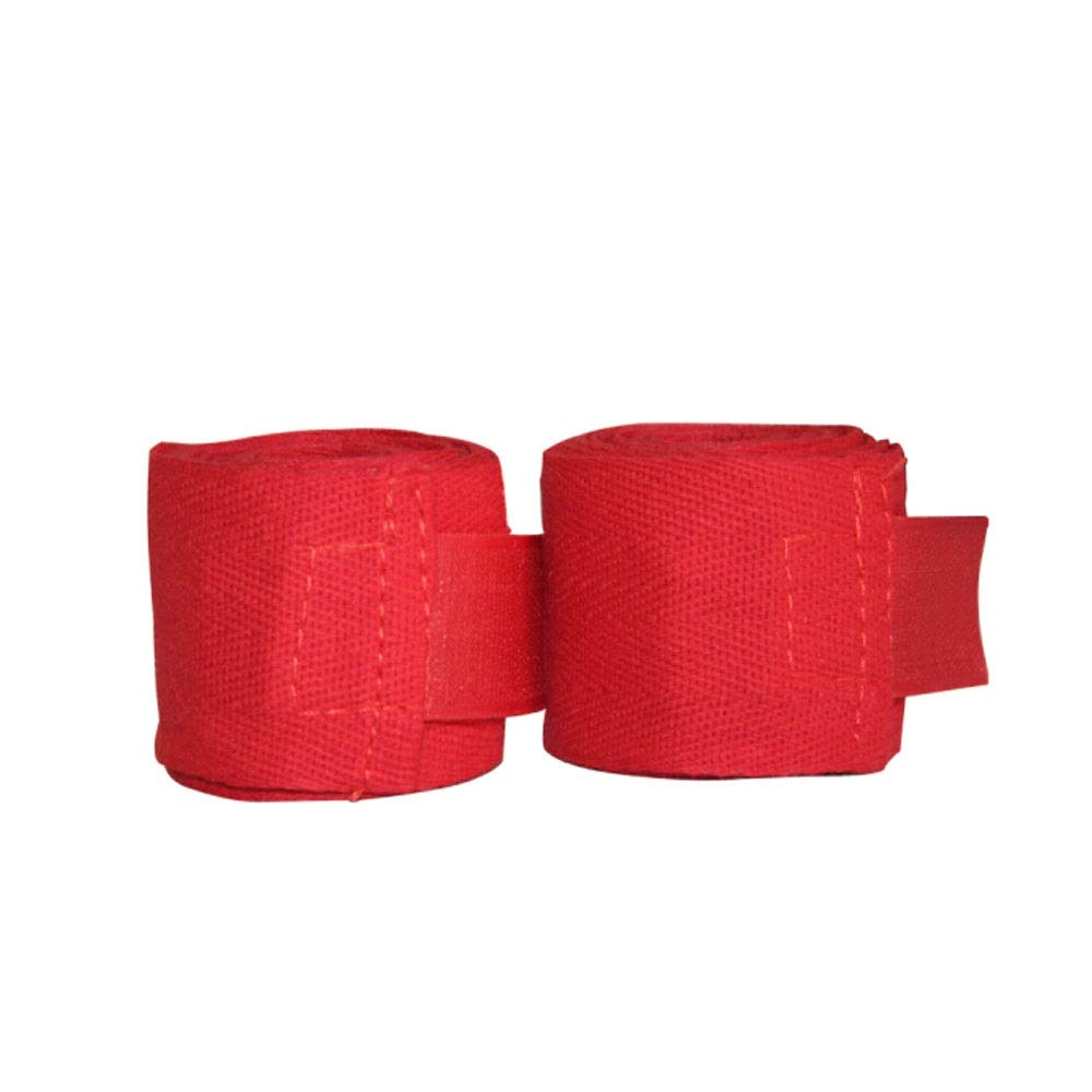 XIAONINGMENG Boxing Bandages, Bandages with Sports Bandages, Martial Arts Sanda, White/red, The Best Choice for Boxing Enthusiasts (Color : Red) by XIAONINGMENG