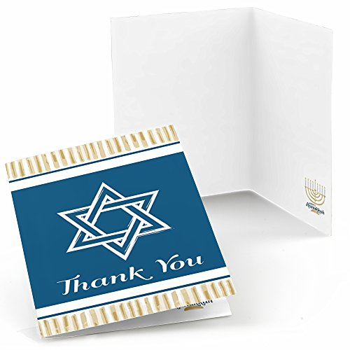 Happy Hanukkah - Chanukah Party Thank You Cards (8 Count)