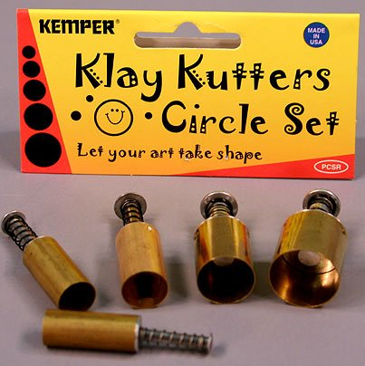 Kemper Klay Kutters Circle Set Clay Bread Dough Modeling Paste Paint & More!