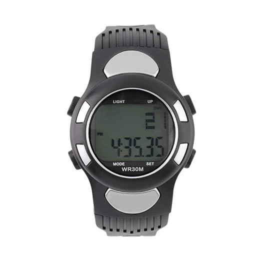 Infrarrojo Digital HeartRate Monitor Reloj Pulso Medidor Deporte Calorías Probador Negocios Casual ¡Caliente!: Amazon.es: Relojes