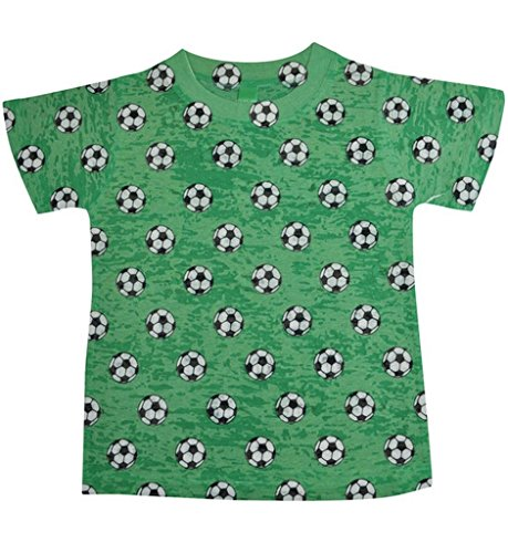 (Stella Blu Clothing Mens Little Boys Soccer T-Shirt 4T Green)