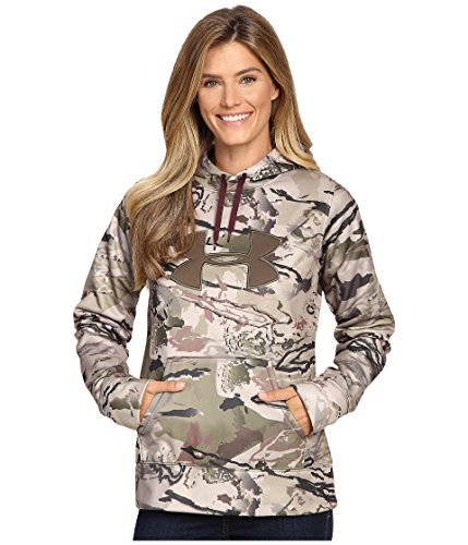 Under Armour Big Logo Hoody - Womens Ridge Reaper Camo Barren / Ox Bld / Maverick Brown XS