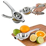 Kitchen Stainless Fruit Lemon Orange Citrus Hand Press Squeezer...