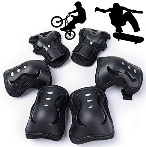Feiteng Outdoor-Sport-Knie-Skating Protektoren Sets Knie Ellenbogen Pads 6 PC Fahrrad Radfahren Skateboard-Kind Erwachsener