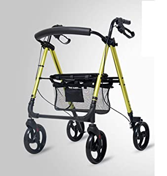 Olydmsky Aleación de Aluminio Comercial Carro Viejo Hombre Compras Carrito Compras Carro Viejo Anciano Ayudar a Conducir: Amazon.es: Jardín