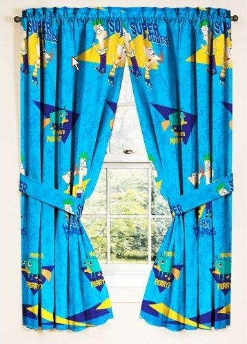 Closeout Drape - Disneys Phineas and Ferb Drapes