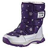 K&T Kids Shoes Boys Girls Winter Warm Lined Snow Boots Waterproof Cold Weather