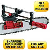 LASER Chainsaw Sharpener Deluxe Model - Sharpens All Saw Chains From 1/4 to 1/2 Inch Pitch