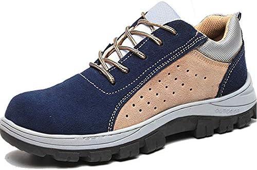 作業靴 安全靴 メンズ スニーカー スエード つま先保護 鋼製先芯 鋼製ミッドソール 厚底 通気 速乾 蒸れない 撥水加工 滑り止め 耐磨耗性 デイリー アウトドア ハイキング カジュアル