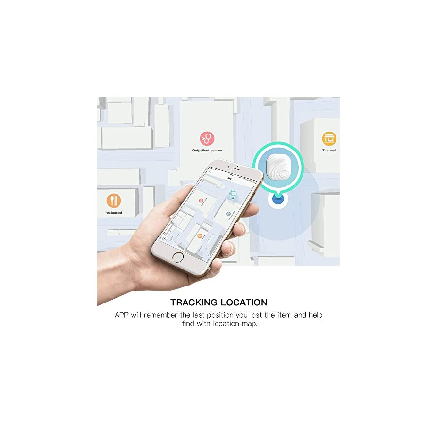 Smart Key Finder Anti Lost Tag – Luxsure Cell Phone Wallet Bags Pet Tracker Nut 3 Mini Locator with App Control for iPhone/iPod / iPad/iOS Android Devices