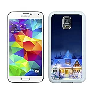 Recommend Design Christmas town White Samsung Galaxy S5 Case 1