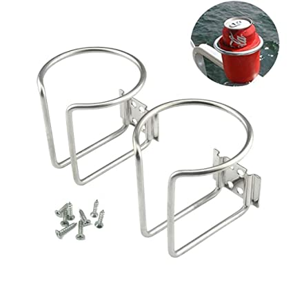Amazon.com: futurup 2pcs acero inoxidable yate Anillo taza ...