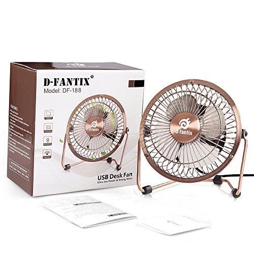 4 Inch Desk Fan : D fantix small usb desk fan quiet inch antique metal