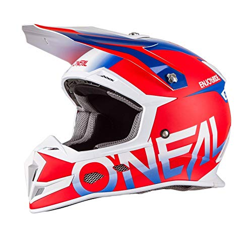 ONeal Unisex-Adult Off-Road Style 5 SRS Blocker Helmet RED/BLU M (med)