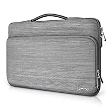 Tomtoc 360° Protective Laptop Sleeve for 15 -15.6 Inch HP | Dell | Asus | Acer | Thinkpad | Samsung Laptops Ultrabooks Notebooks, Spill-Resistant 15.6 Inch Laptop Tablets Briefcase, Gray