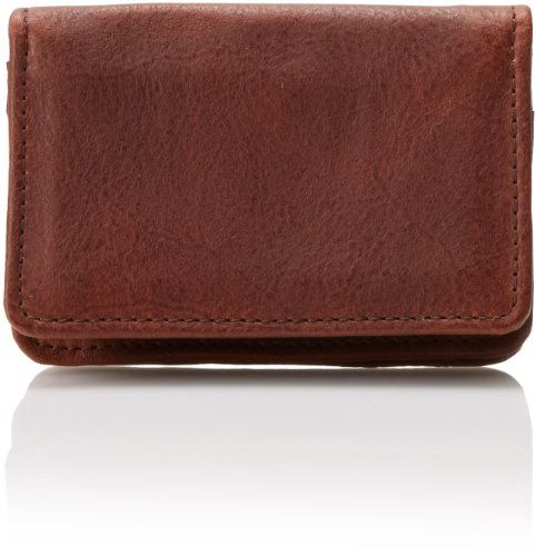 Will Leather Goods Men's Reggie Business Card Case, Cognac, One Size