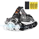 LED Headlamp Flashlight,10000 Lumens Waterproof 4 Modes Bright Headlight,with 4PCS 3.7V 9800mAh Rechargeable Battery + Batteries Charger for Cycling Camping Running Fishing -  China