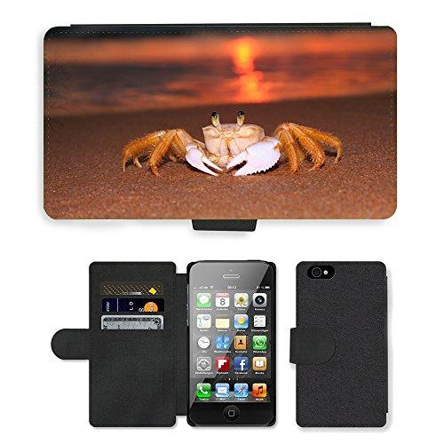PU Leather Cover Custodia per // M00421724 Siri Sunrise Beach // Apple iPhone 4 4S 4G