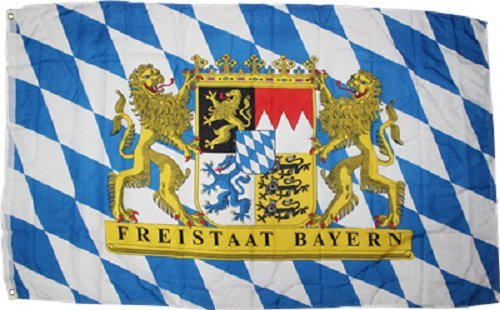 - ALBATROS 2 ft x 3 ft Bavaria Bavarian Freistaat Friestaat Bayern Knitted Flag 2x3 Banner for Home and Parades, Official Party, All Weather Indoors Outdoors