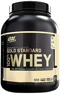 Optimum Nutrition 100% Whey Gold Standard Natural Whey, Vanilla, 4.8 pounds